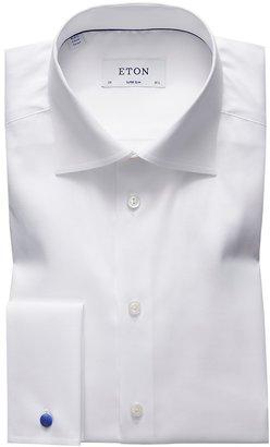 Eton White French Cuff Shirt - Super Slim Fit