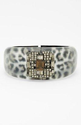 Alexis Bittar 'Lucite - Leopard Deco' Hinged Bracelet (Nordstrom Exclusive) Grey