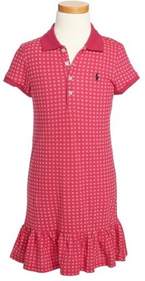 Ralph Lauren Mesh Polo Dress (Little Girls)