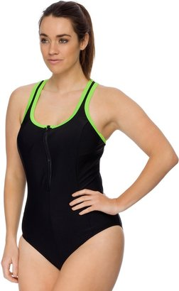 Curvy Chic Sports Racerback Swimsuit