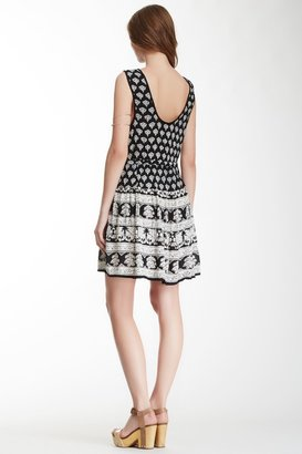 Angie Printed Scoop Dress