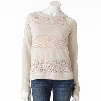 Lauren Conrad lace sweatshirt