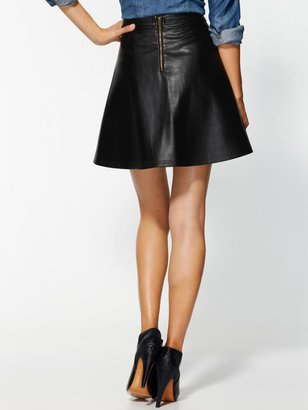 Juicy Couture Tinley Road Vegan Leather Mini Skirt