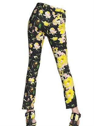 Erdem Stretch Flower Cotton Twill Trousers