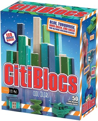 Green Baby CitiBlocs Cool Colors Building Set (50 pcs)