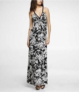 Express Printed Mesh Maxi Dress