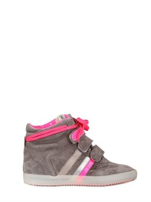 Serafini 20mm Leather And Suede High Top Sneakers