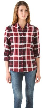 Equipment Brett Plaid Blouse