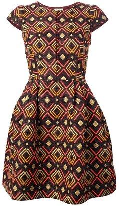 Issa aztec jacquard dress