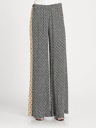 Ella Moss Sun-Tile Print Pants