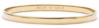 Kate Spade New York 'idiom - Heart Of Gold' Bangle $32 thestylecure.com