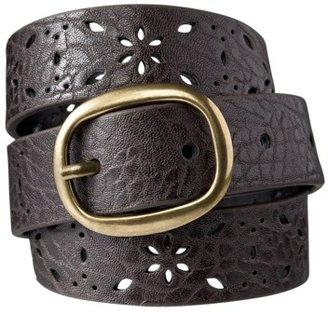 Mossimo Skinny Perf Belt - Brown