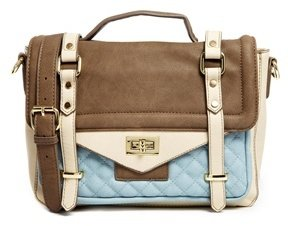 Warehouse Color Block Satchel