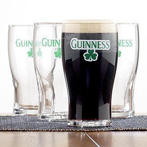 Guinness Shamrock Glasses, Set of 4
