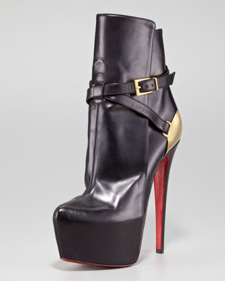 Christian Louboutin Equestria Heel-Plate Red Sole Bootie