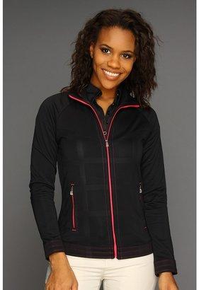 adidas FP Debossed Plaid Full-Zip Jacket '13 (Black/FP Candy) - Apparel
