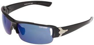 Tifosi Optics Slope Interchangeable (Gloss Black/Smoke Blue/AC Red/Clear Lens) - Eyewear