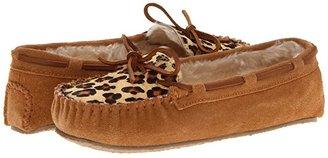 Minnetonka Leopard Cally Slipper (Cinnamon Suede) Women's Slippers