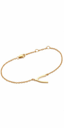 Jennifer Zeuner Jewelry Mini Wishbone Bracelet $132 thestylecure.com