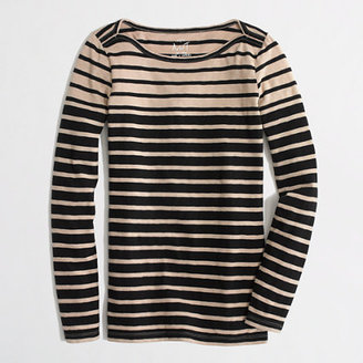 J.Crew Factory Factory artist boatneck tee in mixed stripe