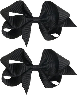 """Bows Arts Child 4"""" Classic Hair Bow Solid Black Grosgrain-Small Classic"""