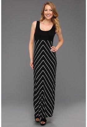 Karen Kane Thin Stripe Maxi Tank Dress (Stripe) - Apparel
