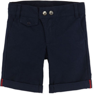 Appaman Hudson Cuffed Shorts, Navy, Boys' 2T-10