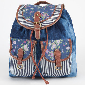 Patchwork Denim Backpack