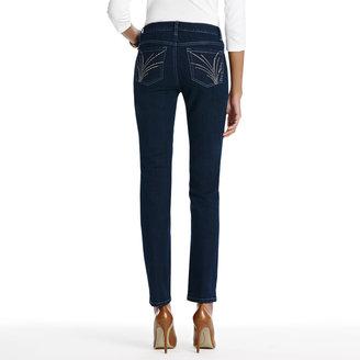 Jones New York The Curvy Straight Leg Jean in Hartford Wash