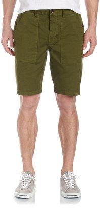 Vince Stretch Twill Shorts, Okra