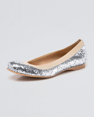 Stuart Weitzman Glittered Ballerina Flat