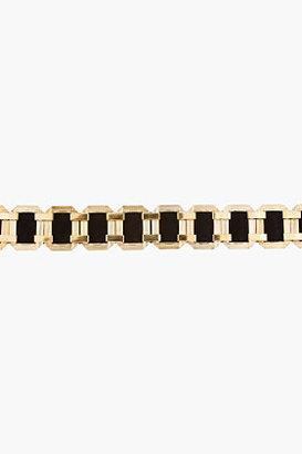 Balmain Black Suede Gold-Hardware statement Belt