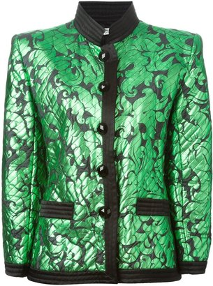 Yves Saint Laurent Pre Owned Fitted Jacquard Jacket