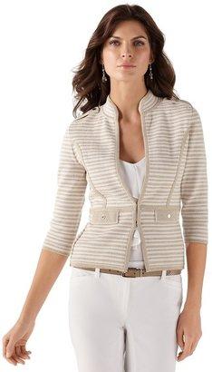 White House Black Market 3/4-Sleeve Structured Knit Jacket