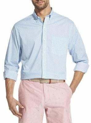 Izod Classic-Fit Floral-Print Button-Down Shirt
