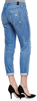 Vince Mason Relaxed Distressed Cuffed Jeans