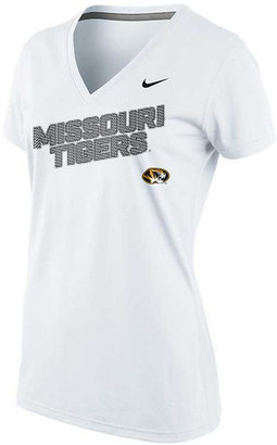 Nike Women's Short-Sleeve Missouri Tigers Dri-FIT V-Neck T-Shirt