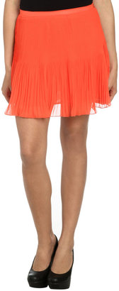 Arden B Pleated Chiffon Mini Skirt