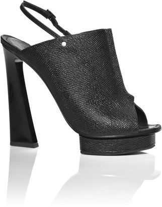 Proenza Schouler Accessories Black Printed Lizard Seam Front Heel