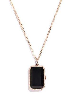 Irene Neuwirth Diamond, Black onyx & gold locket pendant