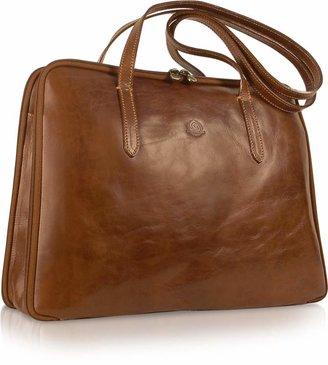 Chiarugi Handmade Brown Genuine Italian Leather Business Bag