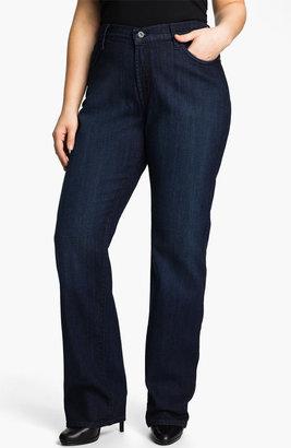James Jeans High Rise Straight Leg Jeans (Plus)