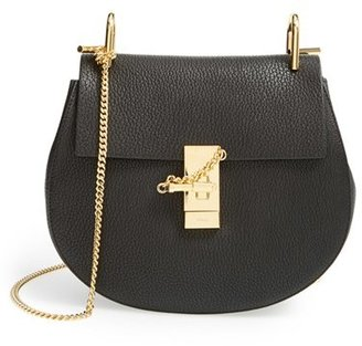 Chloe Small Drew Leather Shoulder Bag - Black $1,850 thestylecure.com