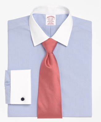 Brooks Brothers Traditional Relaxed-Fit Dress Shirt, Non-Iron Contrast Ainsley Collar French Cuff