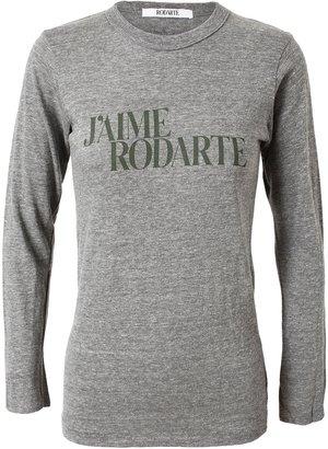 Rodarte 'J'aime Rodarte' Cotton-Blend T-shirt