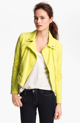 Steve Madden Colored Denim Moto Jacket