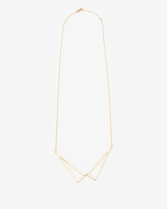 Jennifer Zeuner Jewelry Double Triangle Pendant Necklace