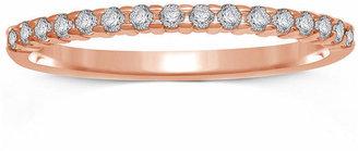 MODERN BRIDE 1/7 CT. T.W. Genuine Diamond 10K Rose Gold Band Ring