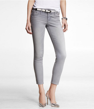 Express Stella Faded Color Ankle Jean Legging - Gray