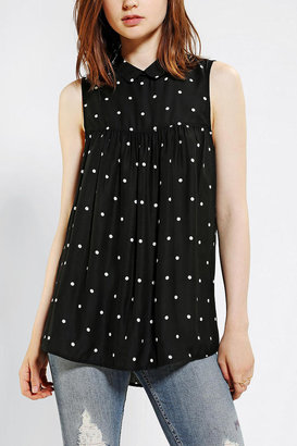 Urban Outfitters Cooperative Collared Babydoll Blouse